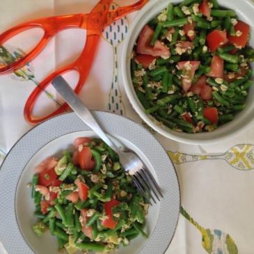 Green Bean Salad with Oats & Avocado
