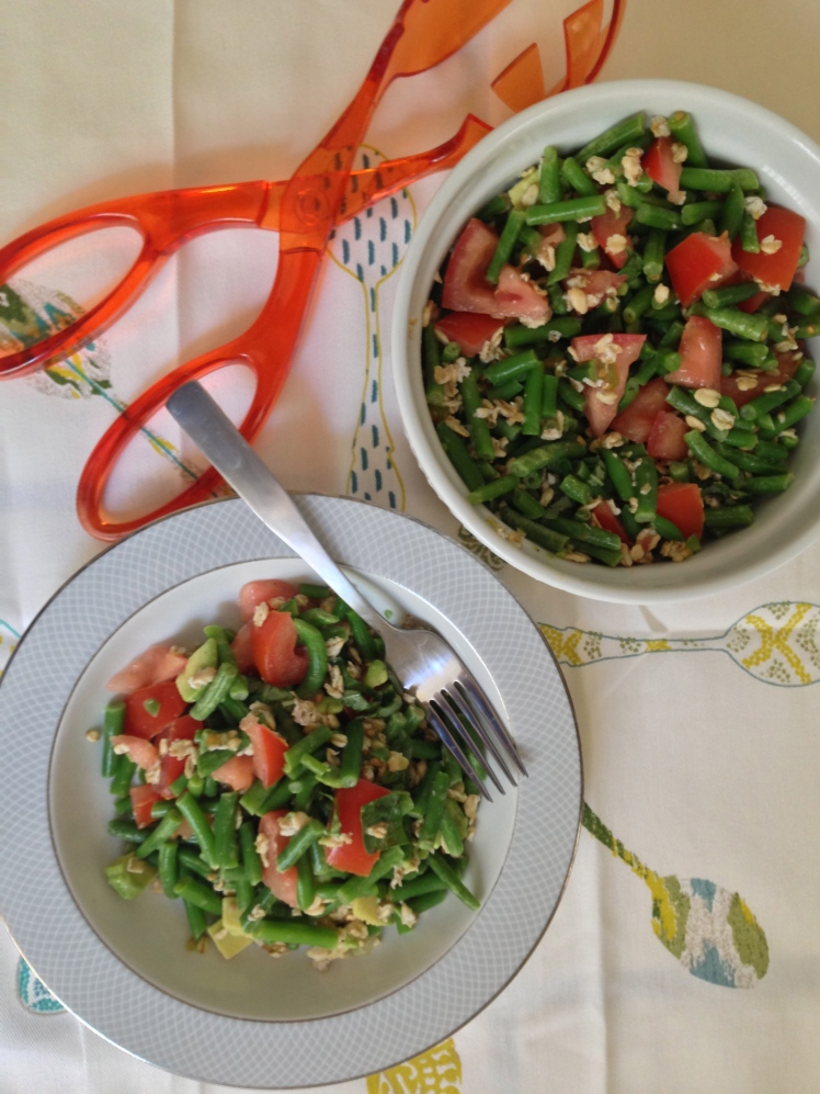 Green Bean Salad with Oats & Avocado