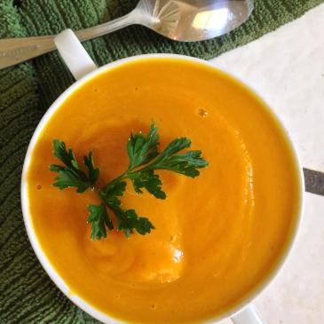 Spiced Butternut Squash & Apple Soup