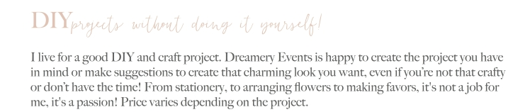 Event Planning & Styling DIY Services