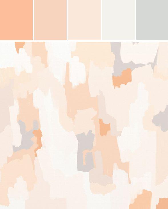 I'm Loving...Peach and Grey tones
