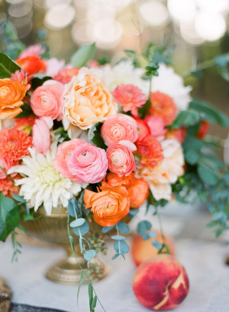 I'm Loving...Peach and Pink Centerpiece