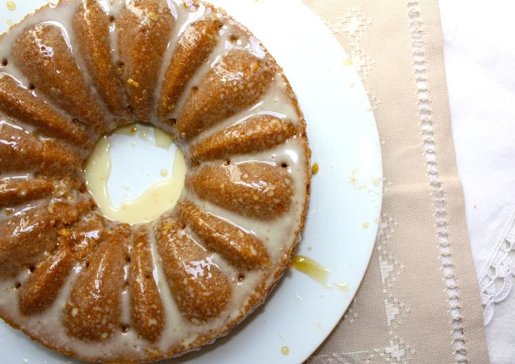 Whole Wheat Lemon and Sage Honey Cake