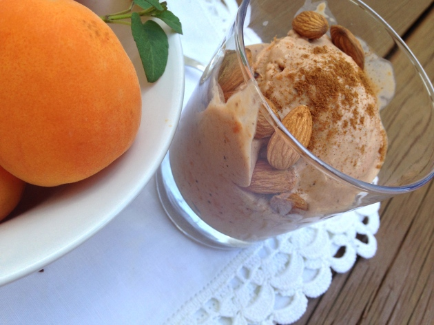 Roasted Apricot and Lemon Hibiscus Tea Ice Cream