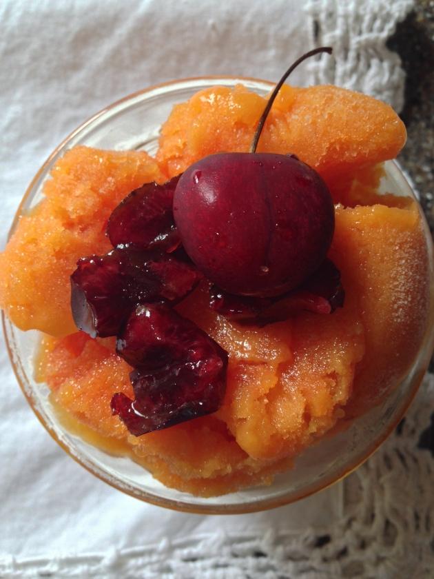 Mango Cherry Sorbet