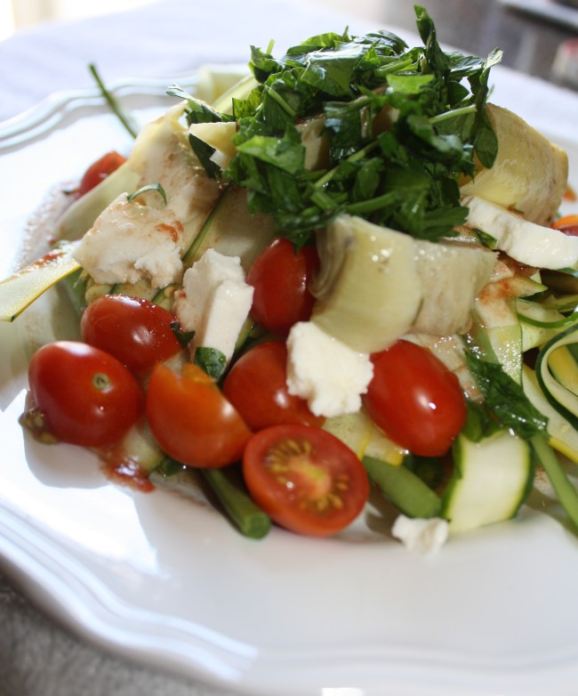 Raw Summer Squash Salad