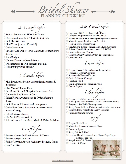The Perfect Bridal Shower Checklist – Dreamery Events