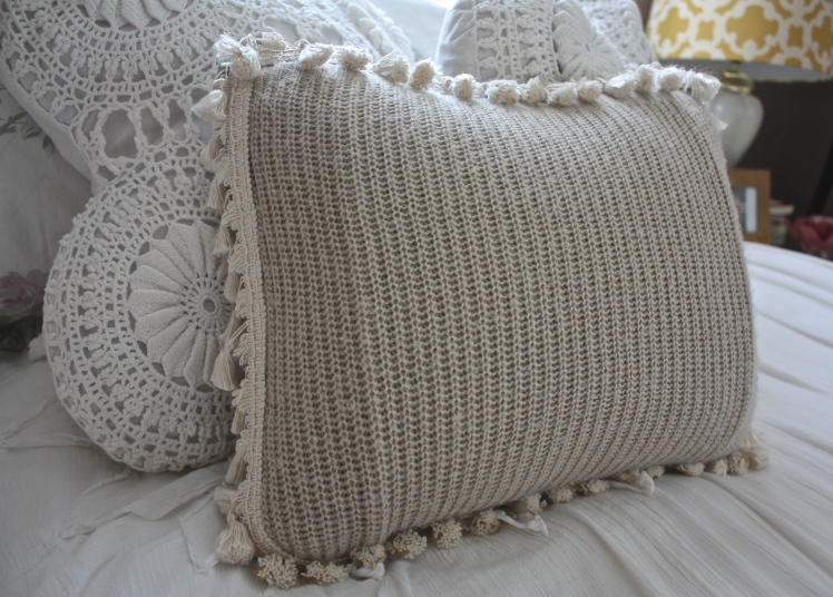 How To: Sweater + Tassel Pillow