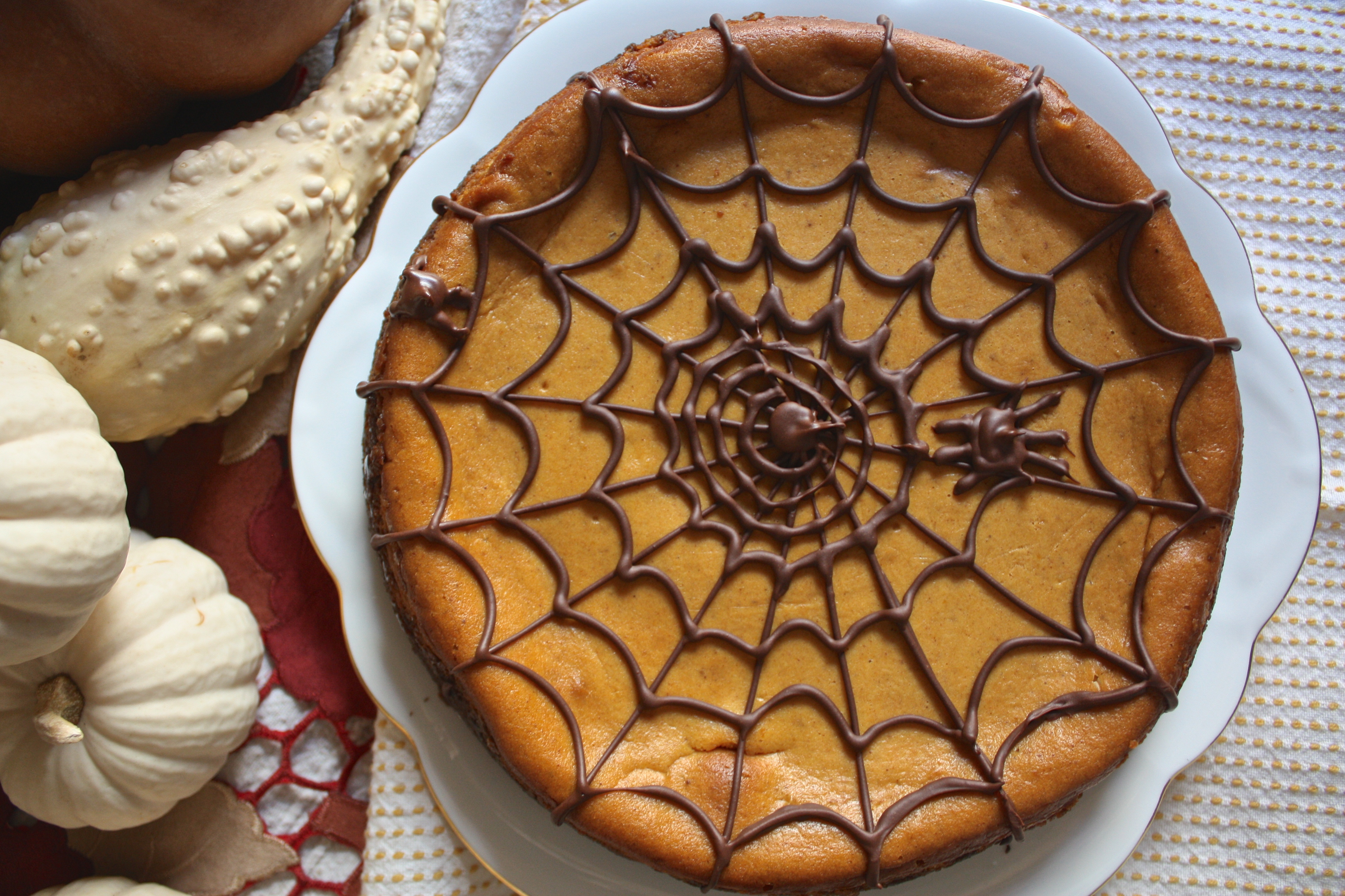 Pumpkin Cheesecake With Gingerbread Cookie Crust The