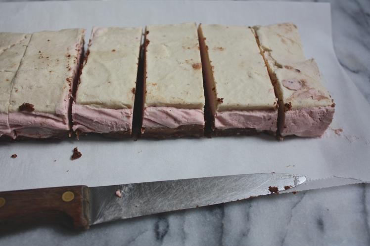 Raw + Vegan Neapolitan Cake Bars