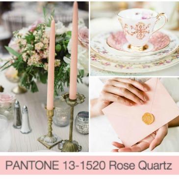 Pantone's 2016 Wedding Colors