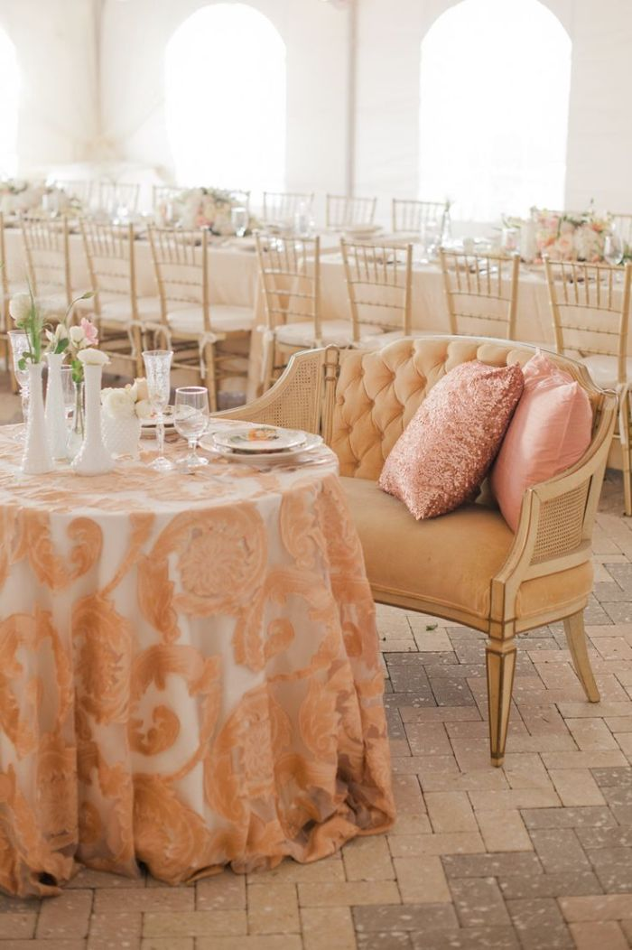 Wedding Inspiration: Loveseat Sweetheart Tables