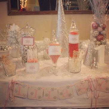 Pink Winter Wonderland Candy Buffet