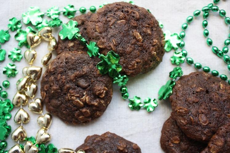 Vanilla Stout Chocolate Oatmeal Cookies