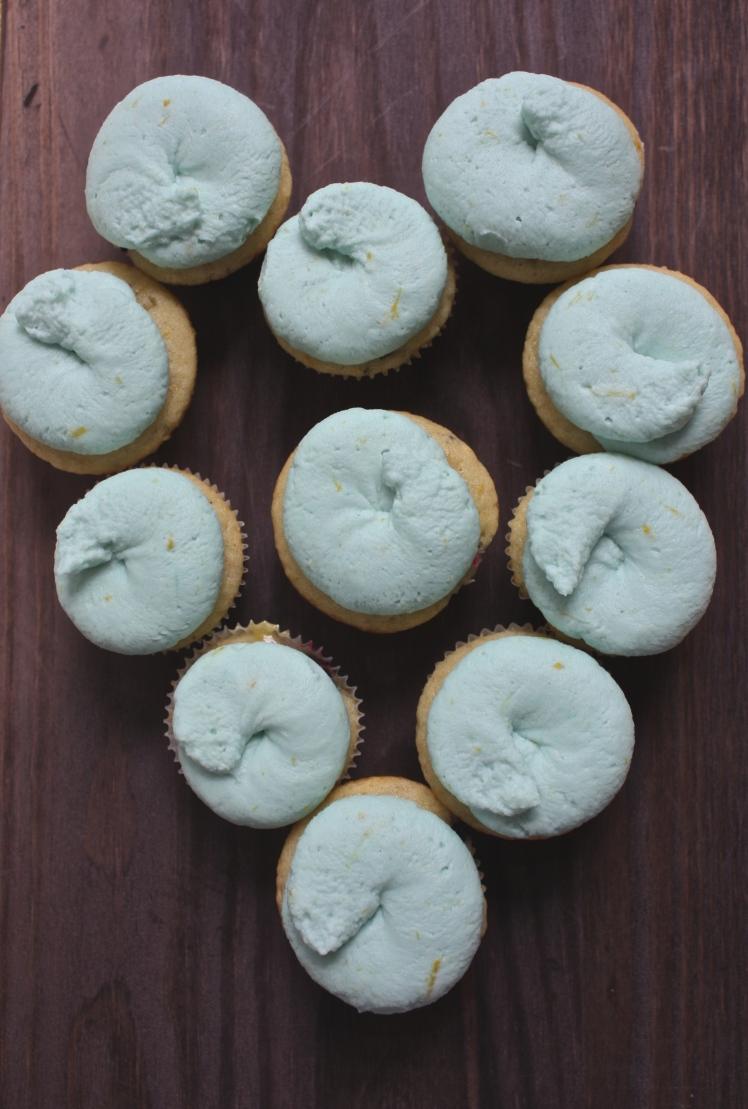 Blueberry Lemon Cupcakes with Lemon Curd + Lemon Mascarpone Frosting