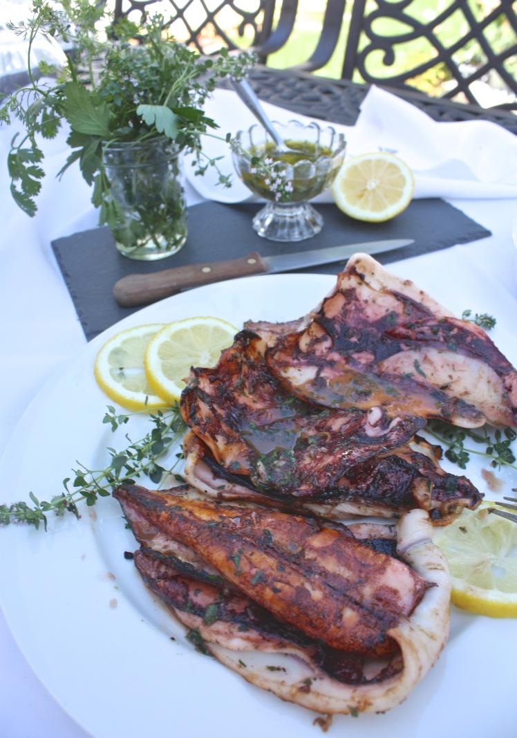 Herb Roasted Squid + Eggplant