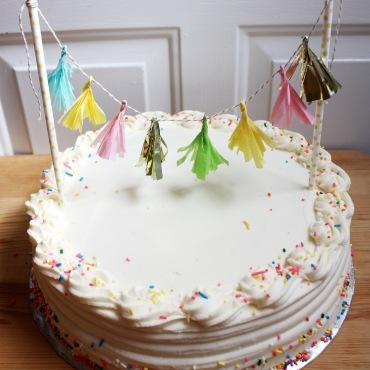 How To: Tassel Garland Cake Topper
