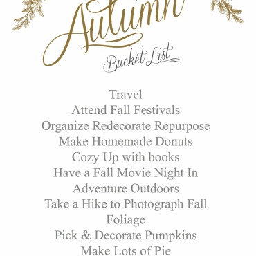 Autumn Goals | Dreamery Events