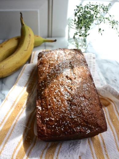 Whiskey Banana Bread with Coconut | Dreamery Events