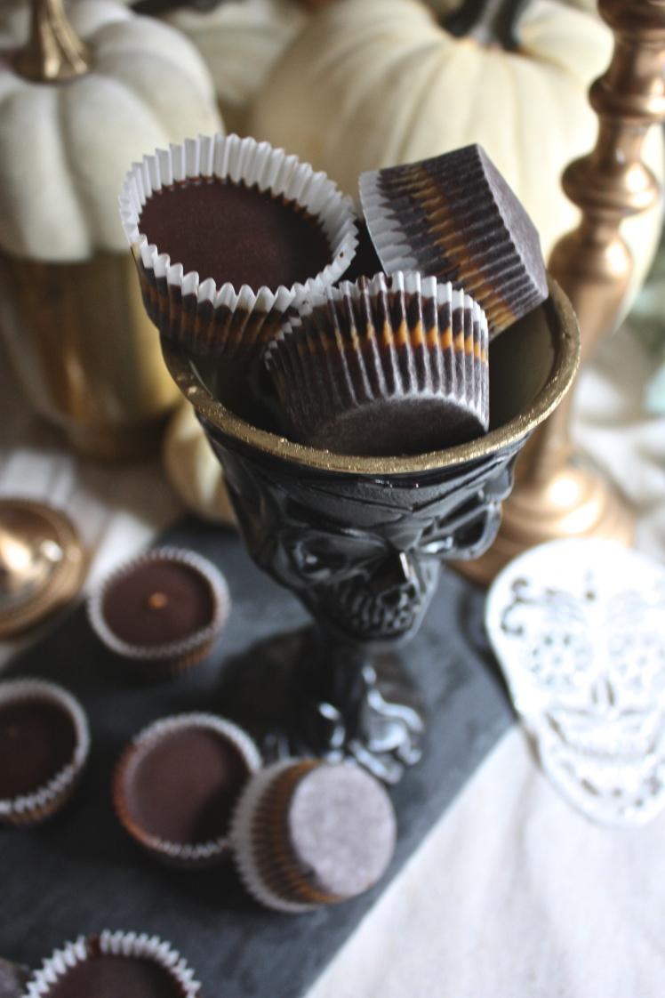 Healthy Halloween : Dark Chocolate Peanut Butter Cups | Dreamery Events