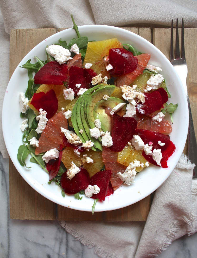 Citrus Arugula Salad with Shaved Beets & Fresh Cheese   Dreamery Events