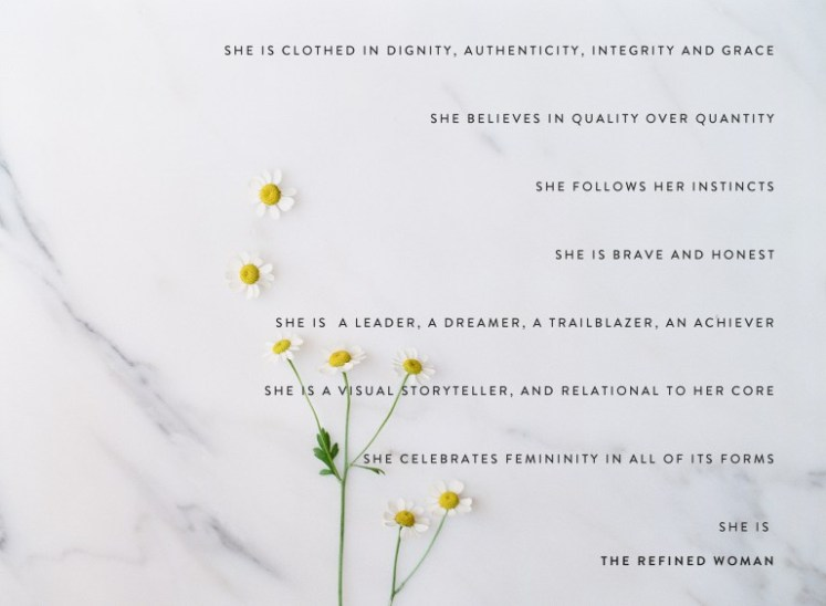 Inspiring Words : The Refined Woman   Dreamery Events