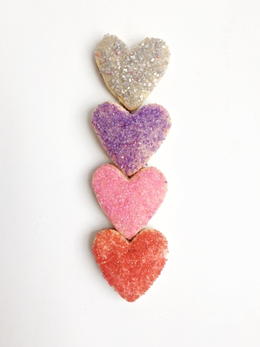 Valentine Sugar Cookie Hearts & 3 Ways to Decorate w. Sugar Crystals | Dreamery Events