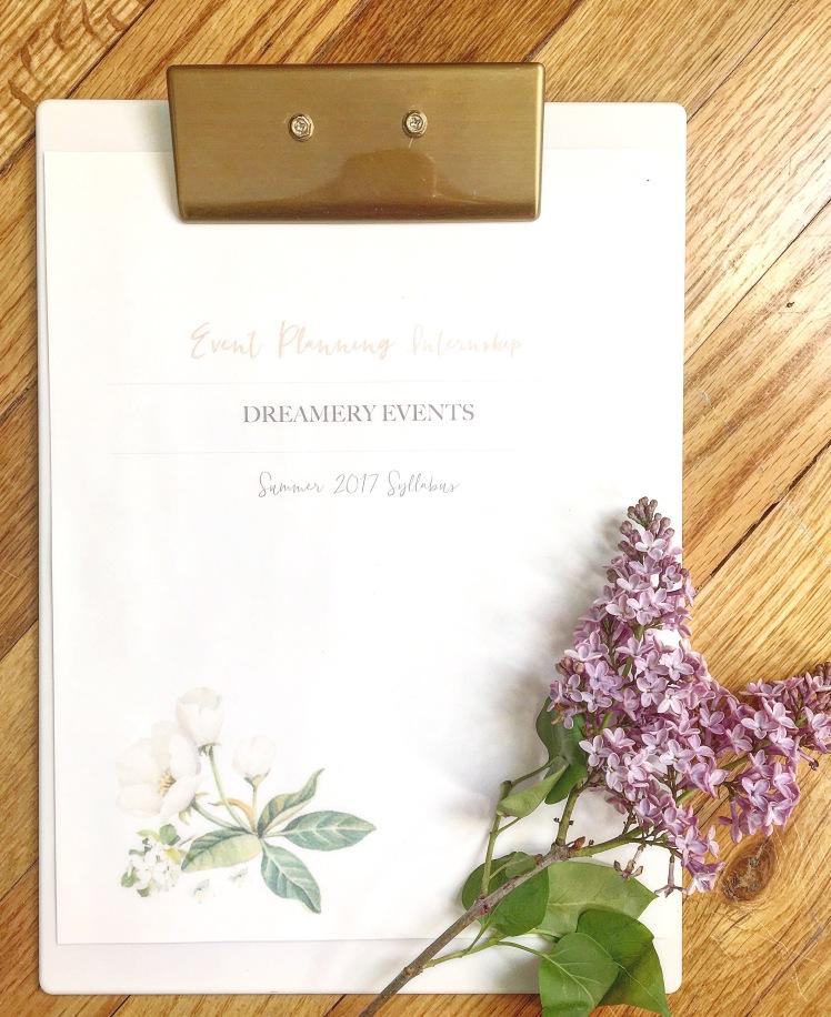 Meet My Summer Intern!   Dreamery Events