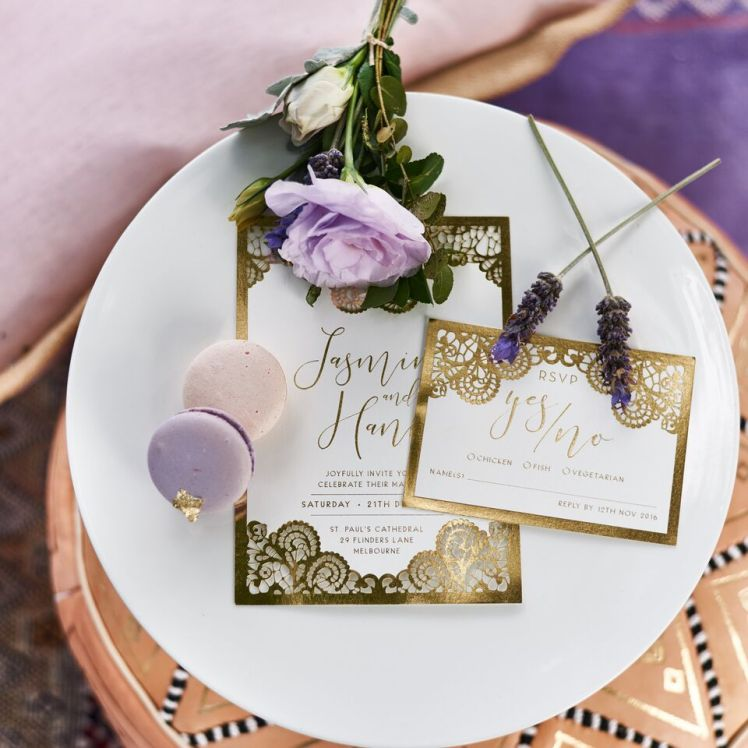 A Luxe Boho Lavender Wedding with Adorn Invitations | Dreamery Events
